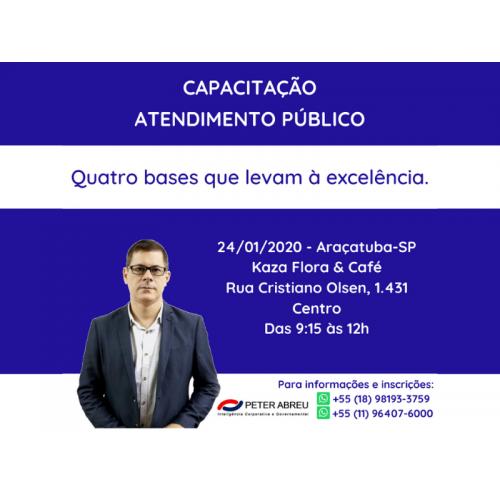 CAPACITAÇÃO EM SERVIÇO PÚBLICO - Araçatuba - 24/01/2020