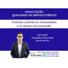 QUALIDADE NO SERVIÇO PÚBLICO - Câmaras - Araçatuba 22/11/2019